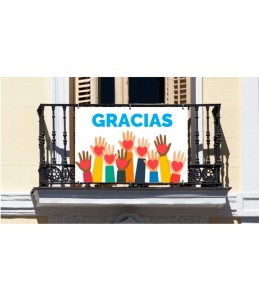 Pancarta Gracias 100x70cm