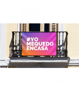 Pancarta YoMeQuedoEnCasa...