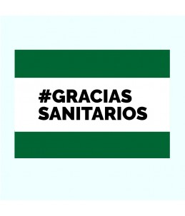 Pancarta Gracias Sanitarios...